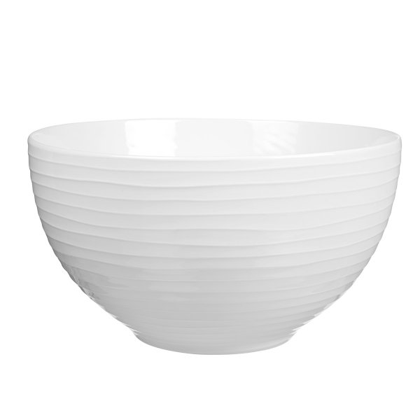 Design House Stockholm Salad Bowl Blond white/stripe 30cm