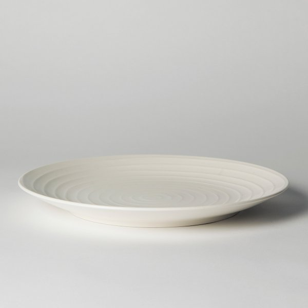 Design House Stockholm Dinner Plate Blond Set of 2 white/stripe 28 cm