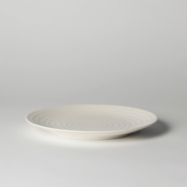Design House Stockholm Salad Plate Blond Set of 2 white/stripe, 22 cm