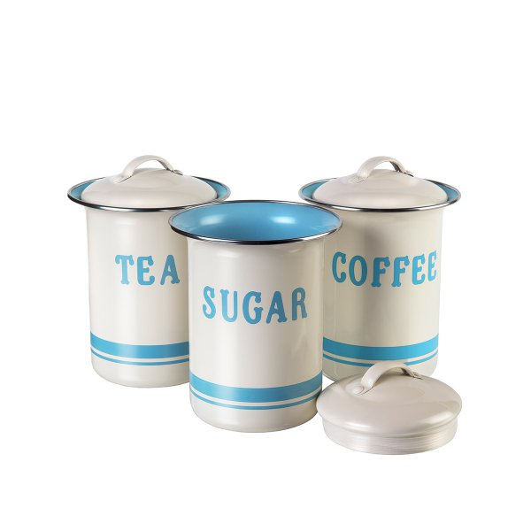 Jamie Oliver Storage Tin Set Vintage 3-pc set