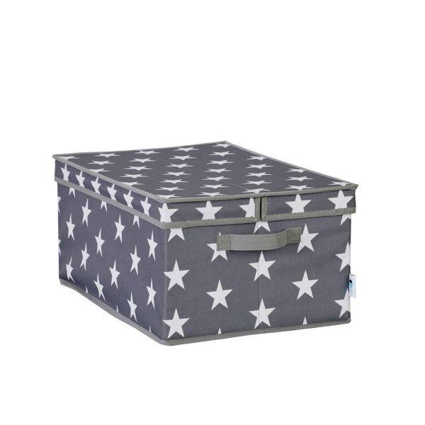 Store.It Storage Box with a Hinged Lid Stars gray