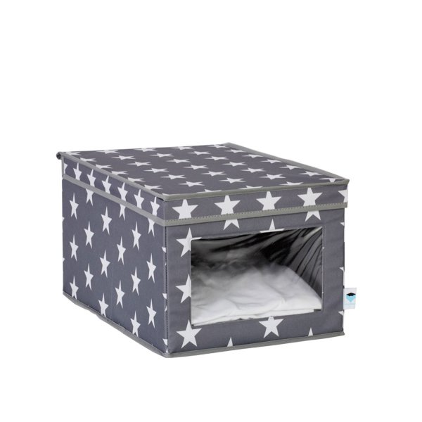 Store.It Storage Box with Viewing Window Stars gray