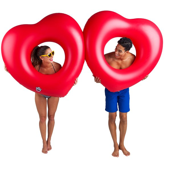 Giant Double Hearts Pool Float