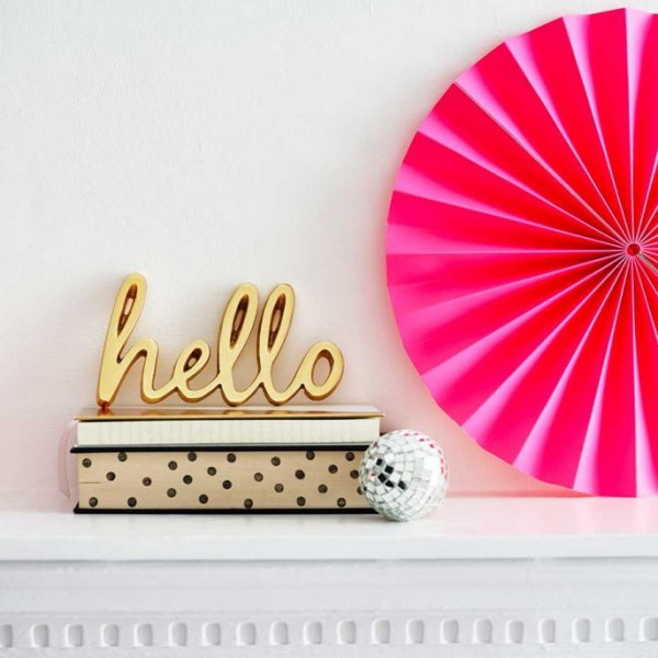 Bombay Duck Decorative Word Hello