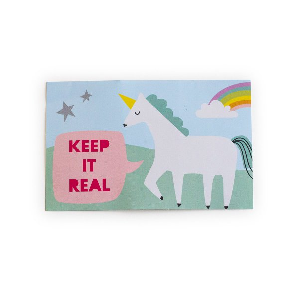loopdsgn Sticker Unicorn Keep it real