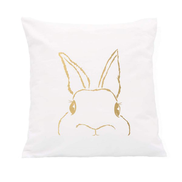 Pillow Bunny gold