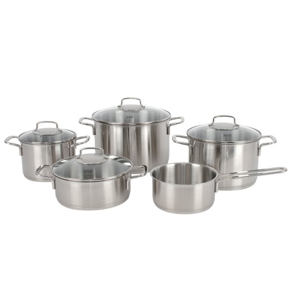 Fissler florenz  cook-set 5-pcs. with glass lids
