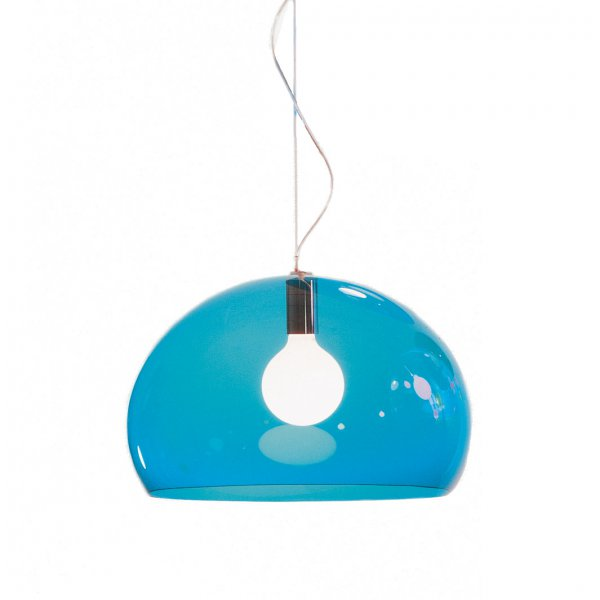 Kartell Hanging Lamp FL/Y transparent petrol blue petrol green