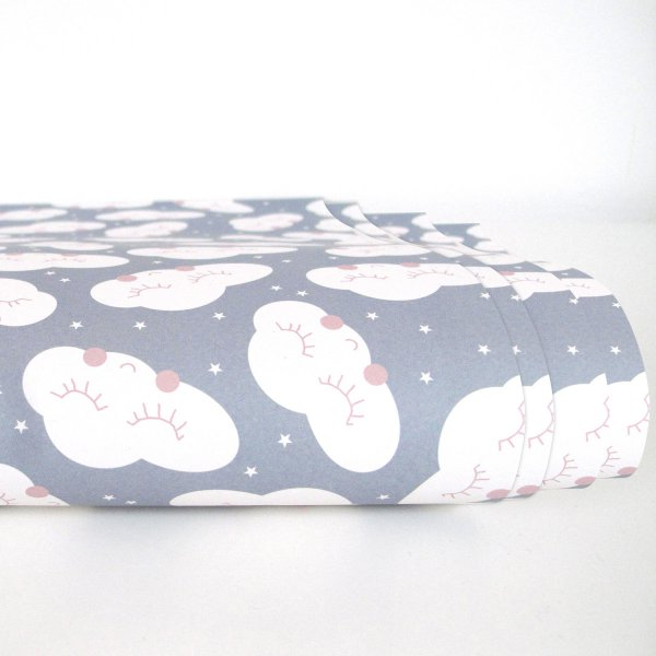 Ava&Yves Gift Paper Wrap Clouds 4-pc Set