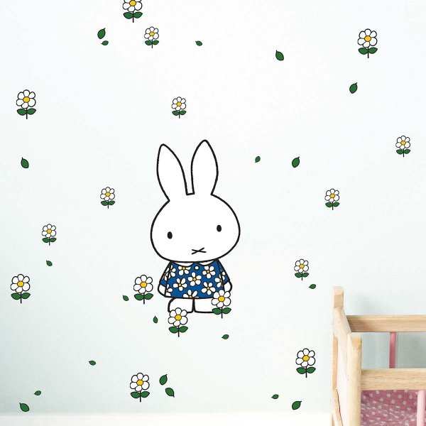 KEK Amsterdam Miffy Wall Stickers Flower Dress