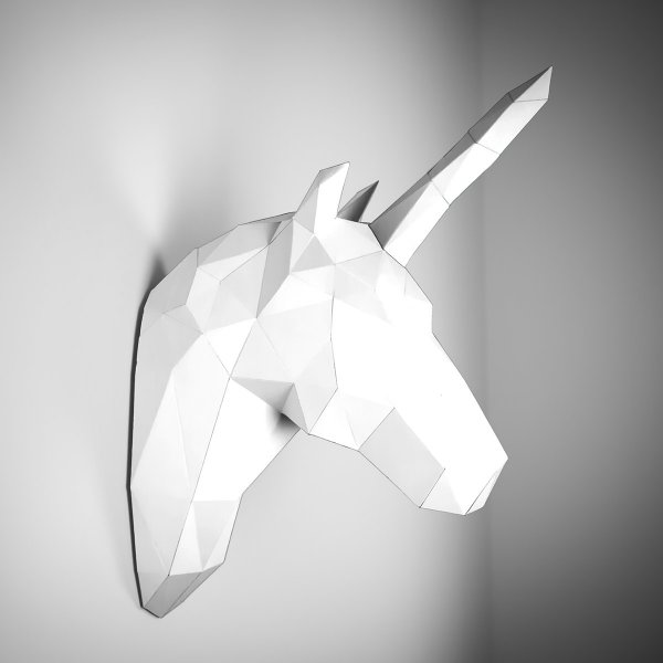 Papercraft Wall Trophy Unicorn