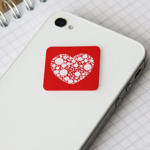 Sinnwert Smartphone Cleaning Pad Heart square