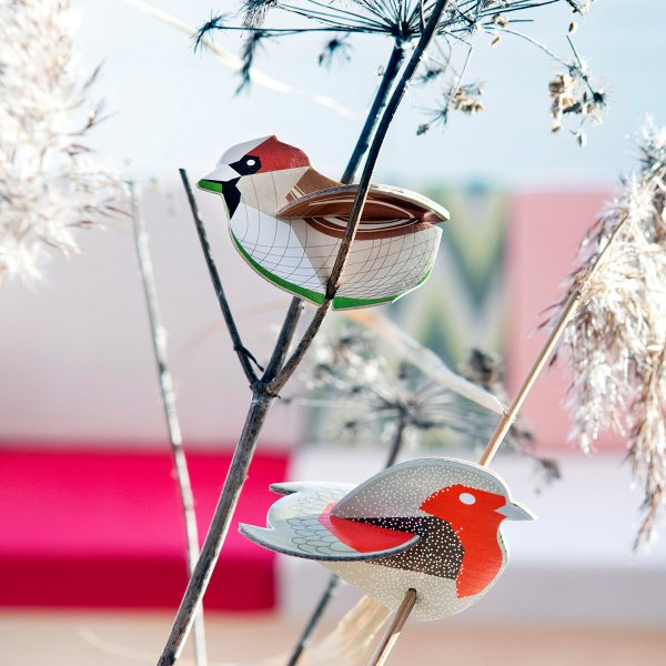 studio ROOF Pop Out Card Robin & Sparrow