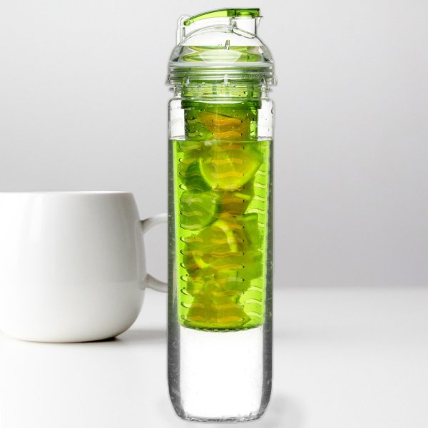 Fresh Bottle with Fruit Piston green