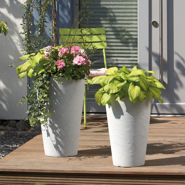 Scheurich Planter 382 White Granite