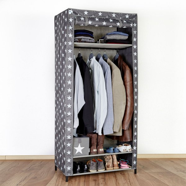 Store.It Textile-Wardrobe Stars gray