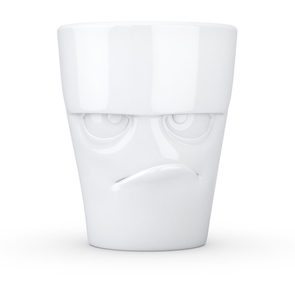 Coffee Mug Facial Motif Grumpy