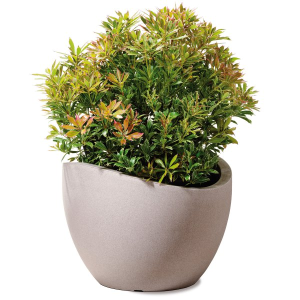 Scheurich Planter 250 Wave Globe Taupe Granite