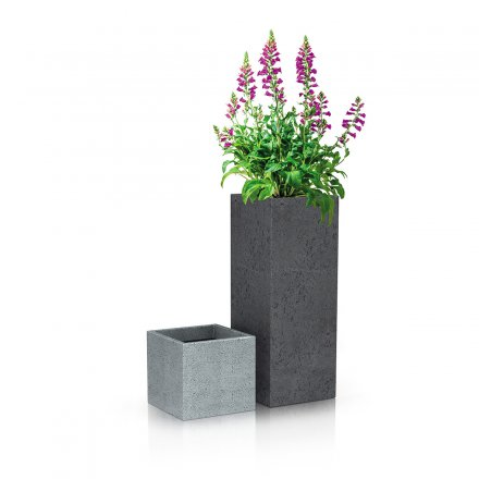 Scheurich Planter CCube High 240 Stony Grey