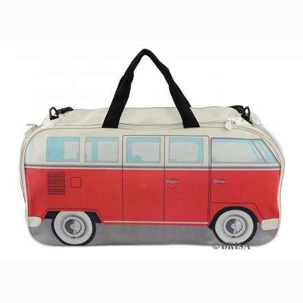 Sports Bag VW Bus red/white