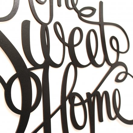 Westpaket Quotation Home Sweet Home black
