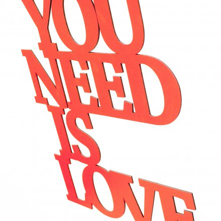 Westpaket Quotation All you need is love red