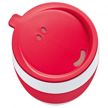 Koziol Insulated Cup Aroma to go with lid solid raspberry