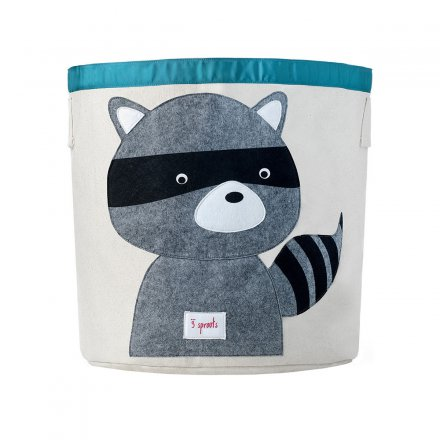 3 sprouts Storage Bin Racoon