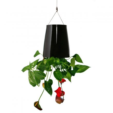 boskke Sky Planter Ceramic M black