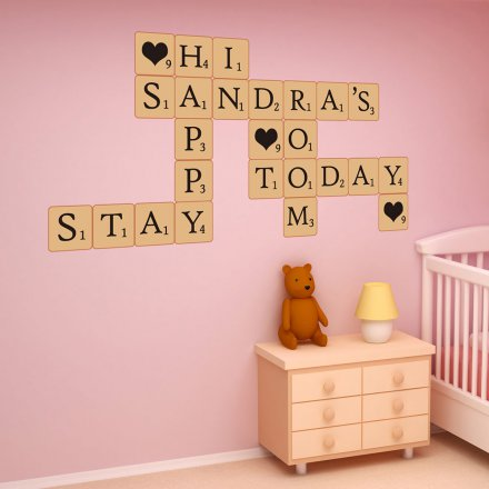Wall Stickers Letters in a Scrabble Look
