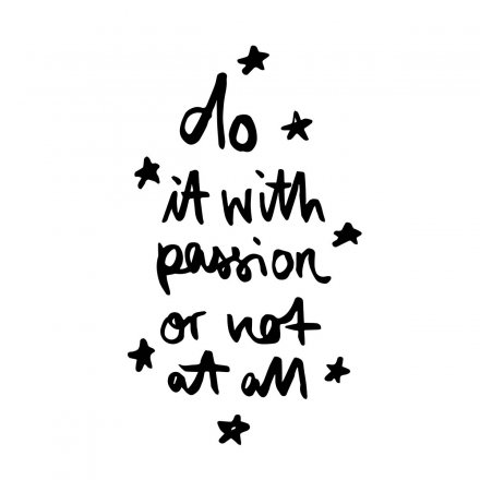 Formart Statement-Poster Do it with passion