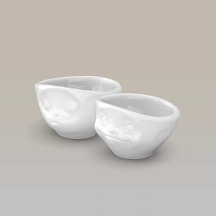 Egg-Cup Set Tassen with Facial Motifs Kissing & Dreamy