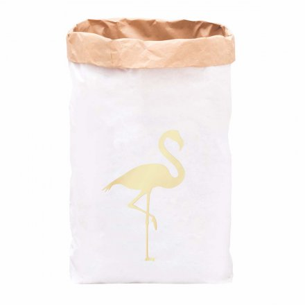 Paper Bag Flamingo gold