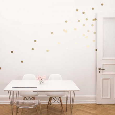 Wall Stickers Dots gold Set of 18