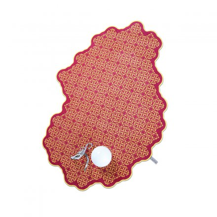 Wool Carpet Tiles raspberry/mango