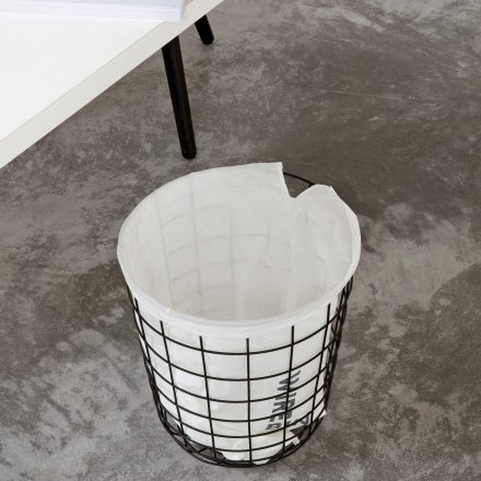 Menu Paper Wastebasket Wire Bin matt