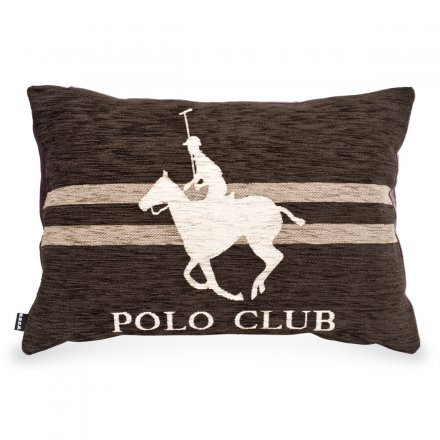 H.O.C.K. Pillow Polo Rider brown 65x45cm
