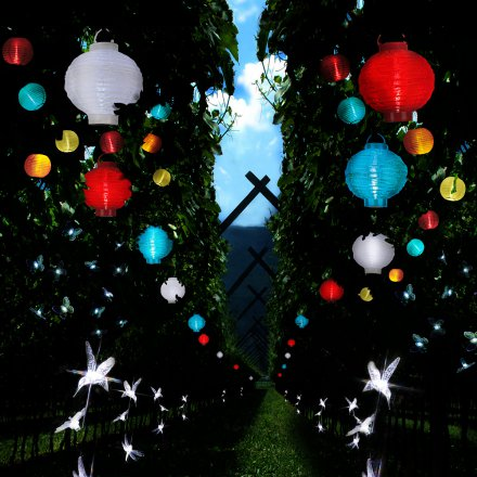LED-Solar String Lights Ball multicolor