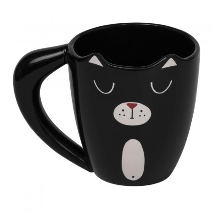 Thumbs Up Mug Black Cat