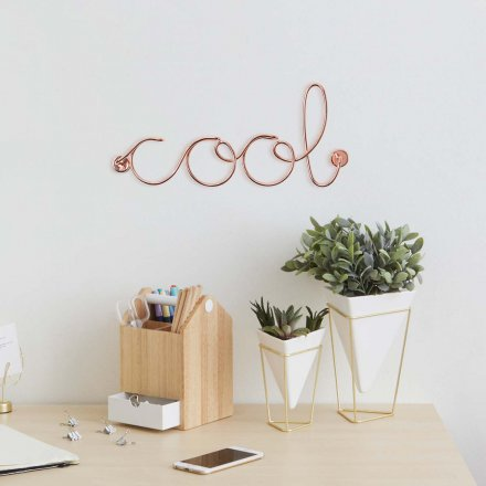 Wall Decoration Word Art Cool from Aluminum, Copper