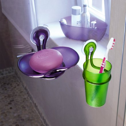 Koziol Toothbrush Tumbler Holder Loop