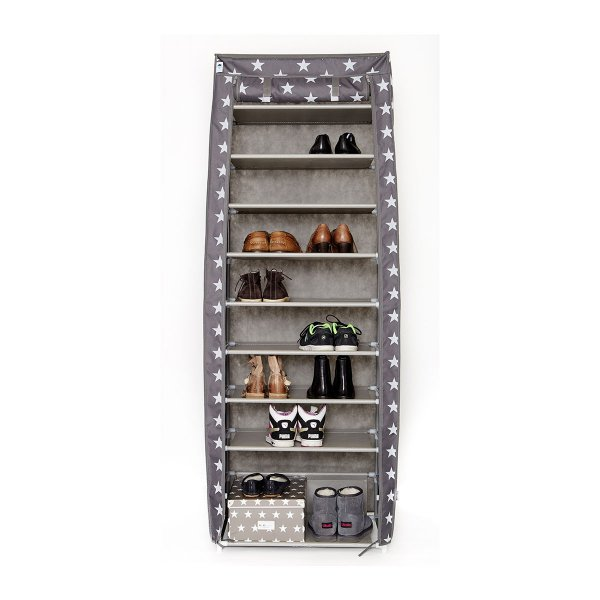 Buy store it textile shoe cabinet stars gray online for Schuhschrank groay
