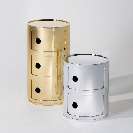 Kartell Container Componibili 2 round metallic