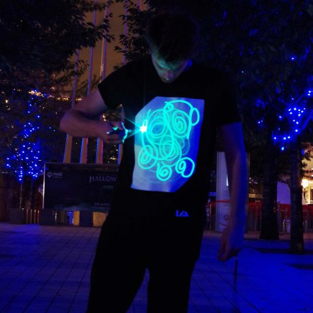 Interactive Illuminated T-Shirt
