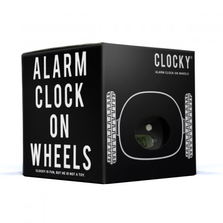 Clocky Alarm Clock on Wheels black