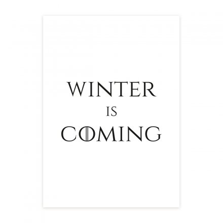 loopdsgn Poster Winter is Coming