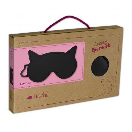 Leschi Eye Mask Luna the Cat black