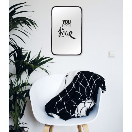 Formart Mirror Decal you look fine black