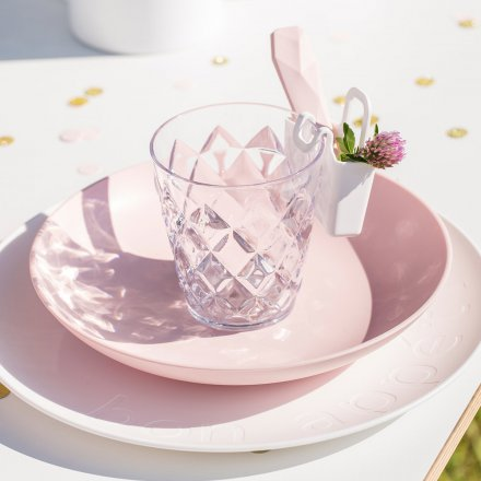 Koziol Soup Plate Rondo solid powder pink