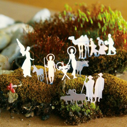 Mini Nativity Set for a tea light